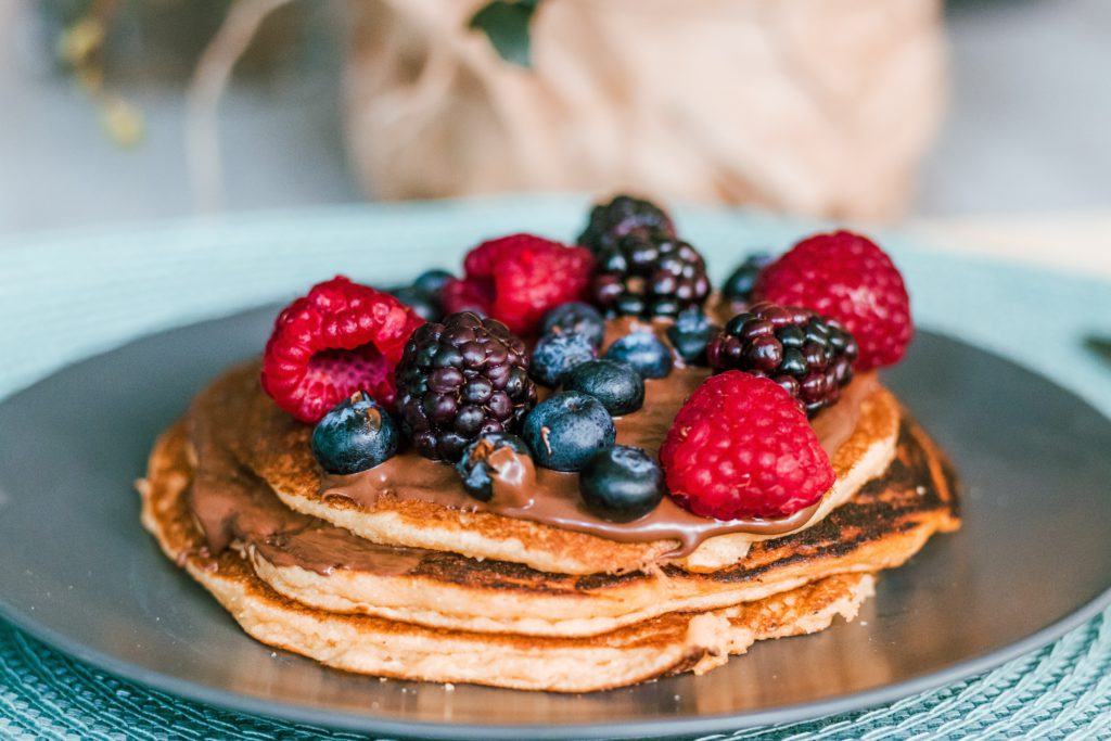 Berries make a great healthy pancake topping